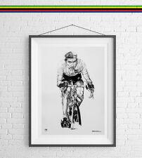Eddy Merckx Art Print Poster Cyclist Fietser