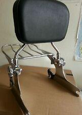 Docking kit + Backrest Sissy Bar Luggage Rack Harley Davidson Softail 2000-2005