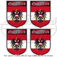 AUTRICHE Bouclier AUSTRIAN Osterreich Adhésif Vinyle Stickers Autocollant 50mmx4