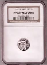 1999 NGC PR70UCAM $10  PLATINUM AMERICAN EAGLE COIN