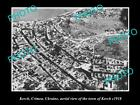 OLD LARGE HISTORIC PHOTO OF KERCH UKRAINE, CRIMEA AERIAL VIEW OF THE TOWN c1918
