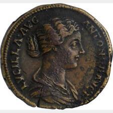 ANCIENT ROMAN BRONZE SESTERTIUS, LUCILLA AUGUSTA, ROME MINT 164-182 AD, NGC VF!