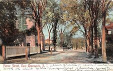 1907 Church Homes Pierce St. East Greenwich RI post card