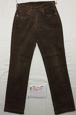 levi's 595 terciopelo marrón vaqueros usados Cod.E528Tg.45 W31 L34 Mujer vintage