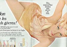 PUBLICITE ADVERTISING 115  1966   REVLON  vernis ongles Pastels Givrés ( 2p)