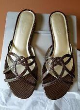 Talbots dark brown leather sandals, Sz 8.5 B