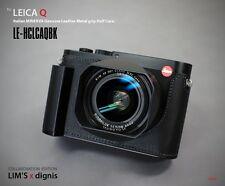 LIM'S Genuine Leather Camera Half Case & Metal Grip For Leica Q (Typ 116) Q-P BK