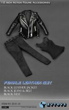 "ZY Toys  ZY15-19  Clothes 1/6 Black T-800 Women Leather Suit F 12""  Figure doll"