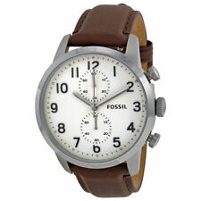 Fossil Stainless Steel Genuine Leather Band Watches