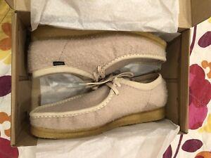 CLARKS ORIGINALS X AIME LEON DORE WALLABEE Tan Casentino Wool Size 13