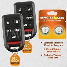 2 For 2005 2006 2007 2008 2009 2010 Honda Odyssey Keyless Remote Car Key Fob