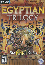 EGYPTIAN TRILOGY 3x Ankh Egypt Themed Adventure Puzzle PC Games - US Version NEW