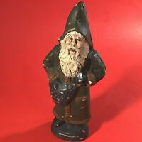 "VINTAGE SANTA FATHER CHRISTMAS FOLK ART CHALK WARE  7 1/2""H  FROM CHOCOLATE MOLD"