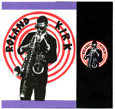 ROLAND KIRK  POSTCARD, BADGE & STICKER. Jazz.