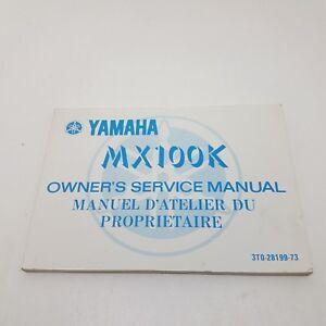 Yamaha Motorbike MX100K Factory Owners Manual 1st ed June 1982