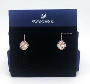 Authentic SWAROVSKI Rose Gold Pink Crystal Bella Pierced Earrings 5299318
