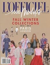 L'Officiel 1000 Models Magazine #106 2014 Paris London FALL/WINTER COLLECTIONS