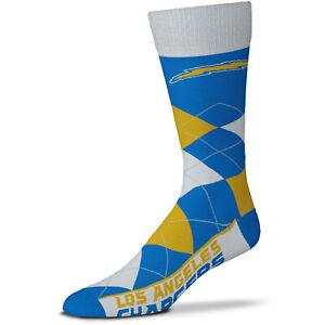 Los Angeles LA Chargers NFL Blue Argyle Socks One Size Fits Most Bosa Jackson