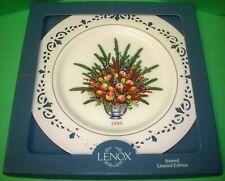 Lenox Limited Annual Christmas Plate Colonial Bouquet Virginia First Colony 1995