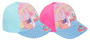 Girls Peppa Pig Baseball Cap Kids Character Summer Peaked Adjustable Sun Hat