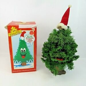Douglas Fir: The Talking Christmas Tree Gemmy 1996 Animated Mouth Sings Talks