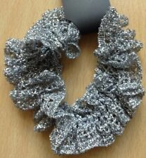 A Silver Lace Scrunchie Ponytail Band / Bobble