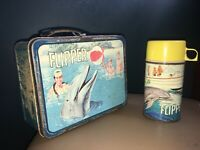 Vintage 1966 Flipper Lunchbox with Thermos - Television Show - King Seeley
