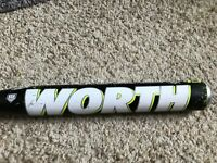 "Worth Storm FPLSTM Fastpitch Softball Bat 32/19 2 1/4"" Barrel Dual Stamp"