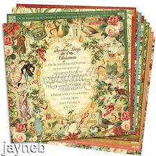 Graphic 45 Twelve Days of Christmas 12 by 12-inch paper 12 sheets a Complete Set