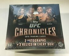 2015 Topps UFC Chronicles Hobby Box - 5 HITS!  -  BRAND NEW & FACTORY SEALED!