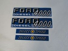 Ford 4000 tractor hood decal set selecto speed 1115-1586