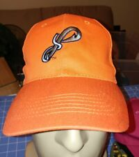 Pensacola Blue Wahoos Adjustable Hat Cap GUC (Orange w/Fish Hook)