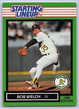1989 Bob Welch - Kenner Starting Lineup Card - Oakland Athletics