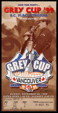 1999 CFL ticket stub 87 Grey Cup FOOTBALL BC PLACE Tiger-Cats vs Stampeders  NM