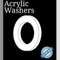 Acrylic White Washers Circle Discs Laser Cut Perspex Various Sizes K&M