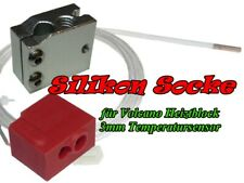 Silicona calcetín para volcano Hot end para 3mm sensor de temperatura (2 unidades)