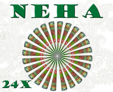 Pack Of 24 Neha Henna Cone For Reddish Brown Mehndi/Henna Design/Tattoo/BodyArt