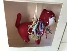 Large Plush Red Fox Key Chain Purse Charm Ornament New In Gift Box
