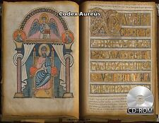Codex Aureus - most opulent of all surviving English medieval manuscripts 750 AD