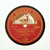 "BUNK JOHNSON NEW ORLEANS BAND ""A Closer Walk With Thee"" (E+) HMV B-9820 [78 RPM]"