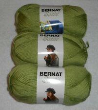Bernat Satin Yarn Lot Of 3 Skeins (Fern #04222)