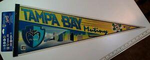 Rare Tampa Bay Mutiny Pennant - VTG 1996 Full Size 30x12 NOS Wincraft VHTF! USA!