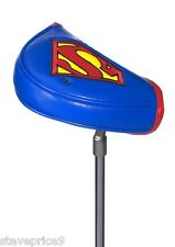 NEW OFFICIAL DC COMICS SUPERMAN GOLF MALLET PUTTER COVER.