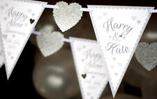 SILVER ANNIVERSARY BANNER PERSONALISED HEART PARTY BUNTING DECS BANNER PARTY