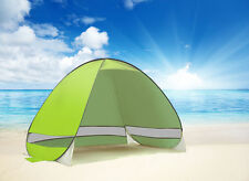 Pop-Up Portable Beach Canopy Shade Shelter Outdoor Camping Tent with Bag Green