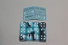 Chessex Pink with Silver 12 Borealis 16mm Pipped D6 Dice CHX 27604