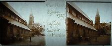 Plaque stéréoscopique photographie église Sainte Catherine Honfleur 8 juin 1927