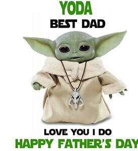Personalised Father's Day Card - BABY YODA / GROGU - Dad, Step Dad, Grandad etc