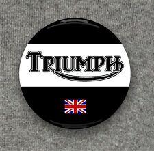 Triumph Motorcycle + Union Jack - Large Button Badge - 58mm diam