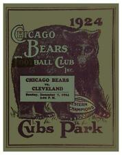 Chicago Bears vs Cleveland Browns **LARGE POSTER** Vintage NFL FOOTBALL 1924